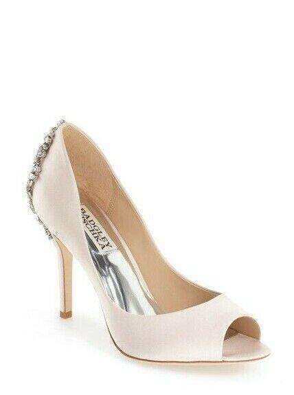 Badgley Mischka Women's 'Nilla' Peep Toe Pump Size 7.5 Light Pink, MSRP  235