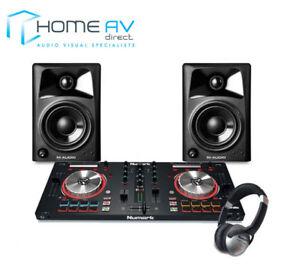 Numark-Mixtrack-Pro3-2-Channel-Serato-DJ-Controller-AV32-Speakers-Headphones