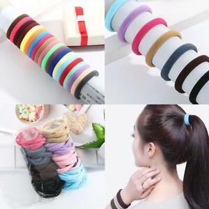 50Pcs-Women-Girl-Hair-Band-Ties-Elastic-Rope-Ring-Hairband-Ponytail-Holder