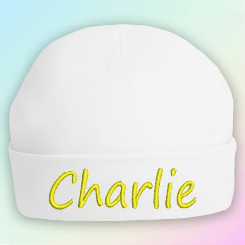 Name Only Embroidered Baby Beanie Hat Gift Personalised