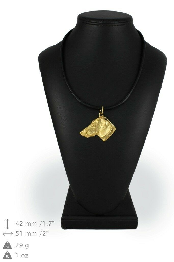 Dachshund type 4 - Gold coverot necklace with dog, high quality Art Dog