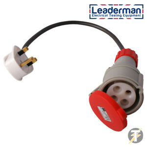 Tremendous Leaderman 3 Phase Industrial Test Adaptor 415V 16A Socket To 13A Wiring Database Pengheclesi4X4Andersnl