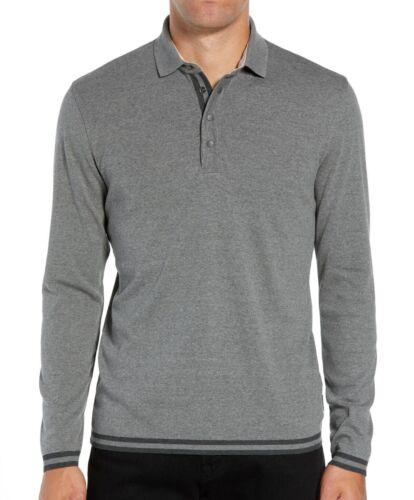 Ted Baker London Men/'s Long Sleeve Longfiz Tipped Ribstart Polo Shirt Charcoal