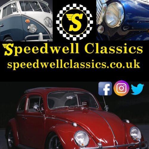 Classica Mini Cooper VW Camper Beetle Speedwell Adesivo Rotondo 10cm