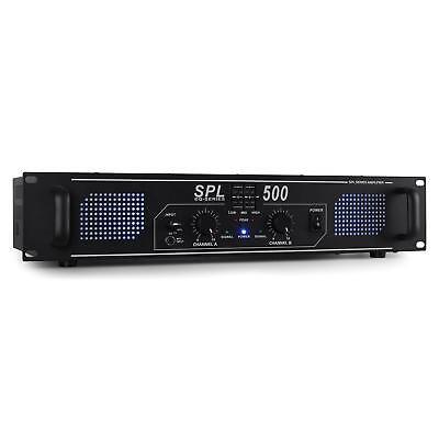 AMPLIFICADOR DJ 500W ETAPA POTENCIA 2x250W ECUALIZADOR 3 BANDAS LUZ -B-STOCK