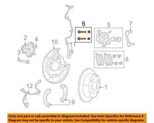 CHRYSLER OEM Brake-Rear-Caliper Mount Bolt 5191247AA