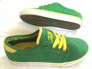 Fallen-Forte-green-yellow-fury-Skateboard-Skate-Shoes-Schuhe-pricepoint-SALE
