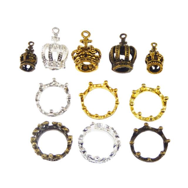 12pcs Assorted Keys Shape Charms Vintage Gold Alloy Pendant Findings Craft