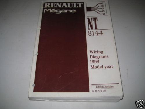 Workshop Manual Wiring Diagram Electricity Renault Megane