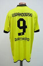 BORUSSIA DORTMUND GERMANY 2012/2013 HOME FOOTBALL SHIRT PUMA LEWANDOWSKI #9