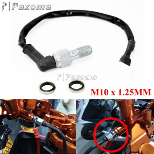 Motorcycle Brake Hydraulic Single Banjo Bolt Light Switch M10 x 1.25mm For Honda
