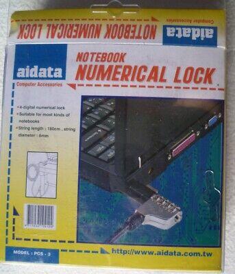 2 Stück Aidata Notebook Kabelschloss, 4 Stellige Zahlenkombination, 180 Cm, 6 Mm