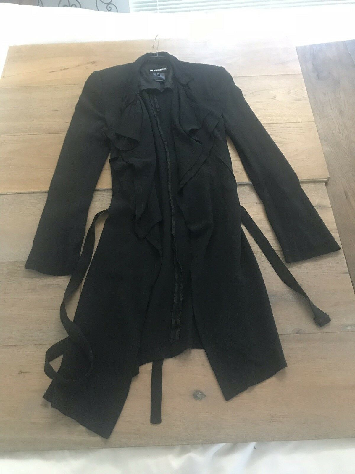 Vintage Ann Demeulemeester 100% Silk Double Lined… - image 2
