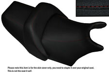 DESIGN 2 DARK  RED STITCH CUSTOM FITS YAMAHA V MAX 1200 FRONT + REAR SEAT COVERS