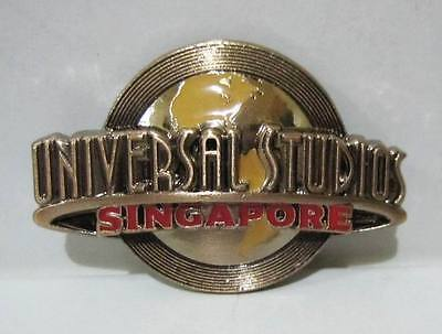 ▓ Universal studios singapore logo rose gold metal fridge ref magnet
