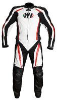 COMBINAISON MOTO EN CUIR Veste et pantalon 2 partie S M L XL 2XL 3XL avec bosse