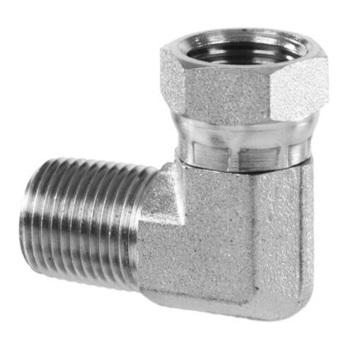 """High Pressure Fitting 1//4/""""M x 1//4/""""F Elbow MP x NPSM 5000 psi"""