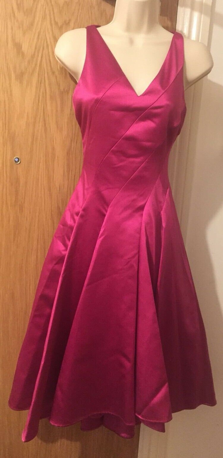Coast pinklla Structured Dress in Hot Pink Limited Edition Size 8