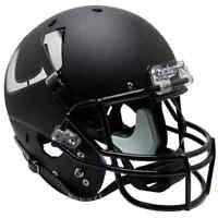 Miami Hurricanes Alternate Black Schutt Ncaa Full Size Replica Football Helmet
