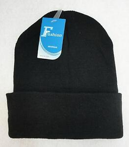 Wholesale 24pc Lot Solid BLACK Beanie Winter Knit Hats Beanies