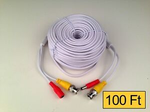 100-Feet-Ft-Premium-Premade-Coaxial-Siamese-Cable-White-Black-wholesale-lots