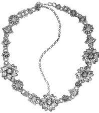 ERICKSON BEAMON Ice Age Silver Plated Swarovski Crystal Headpiece NWOT