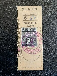 1949 Postal Money Order Receipt Ebay