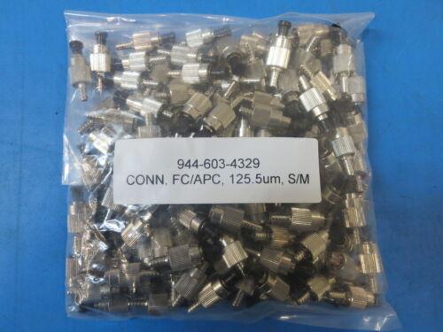 AMPHENOL 944-603-4329 FC//APC 125.5um SINGLEMODE CONNECTORS ~LOT OF 10~