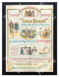 Historic-Meredith-amp-Drew-Cycle-Biscuits-1890s-Advertising-Postcard