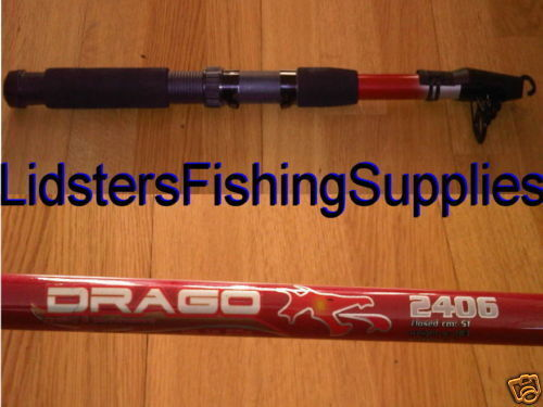 Drago Telescopic 8ft 2.4M Multi Purpose Fishing Rod x 2