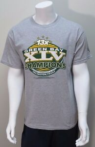 b62eea50e Green Bay Packers 13X Superbowl XLV Champions T-Shirt by Gildan ...