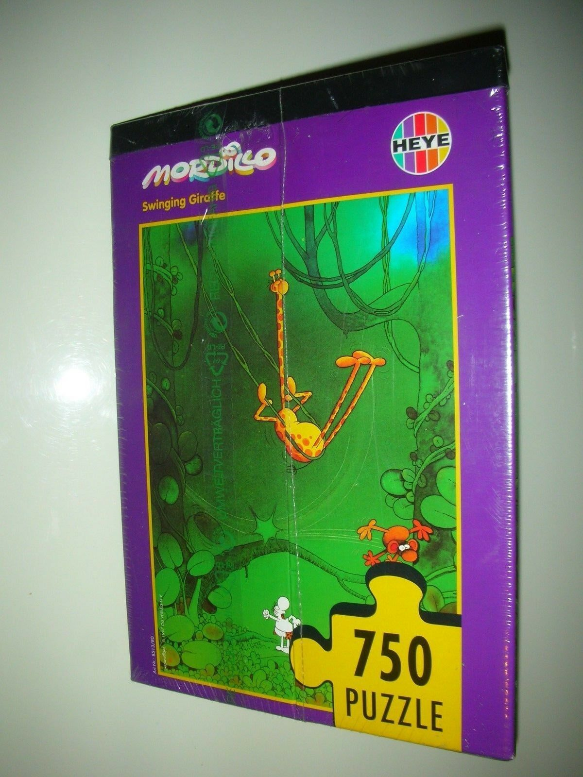 PUZZLE - MORDILLO 8513 - SWINGING GIRAFFE - 750 Pezzi - 41 x 58 - Heye - 1978