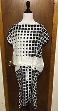 Dries Van Noten Graphic Cotton Sheath Dress Waist Tie Sz M Garconne Totokaelo