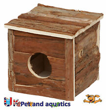 Natural Wooden House, Hide, For Hamster & Small Rodents