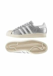 Details about adidas Superstar 80s W Size 9 Matte Silver RRP £95 Brand New S76415 RARE