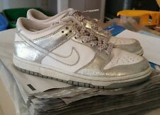Girls Youth Size 5.5 Silver/White NIKE ATHLETIC SHOES