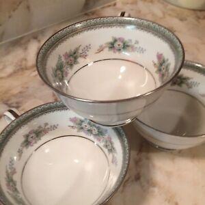 Noritake-Bristol-Fine-China-Coffee-Cups-Lot-Of-Three