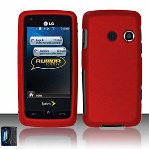For-LG-Rumor-Touch-LN510-Banter-Touch-UN510-Hard-Case-Phone-Cover-Rubber-Red
