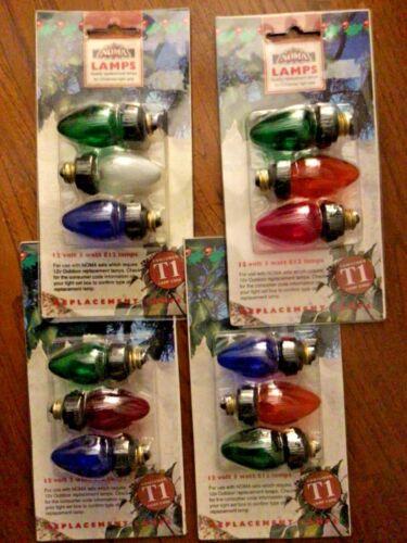 Vintage Christmas Lights Noma T1 12 V 3 W E12 remplacement des ampoules de rechange Cône Lampes