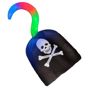 Flashing Pirate Hook Kids Toy Projector Light Up Sensory Dress Up