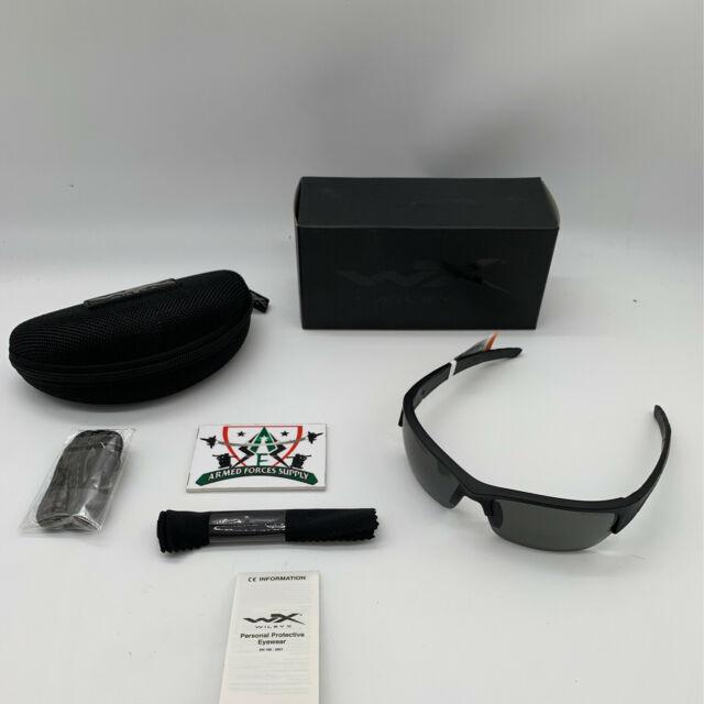 Wiley X Sunglasses CHVAL01 Valor Matte Black Frame-smoke Grey for sale online