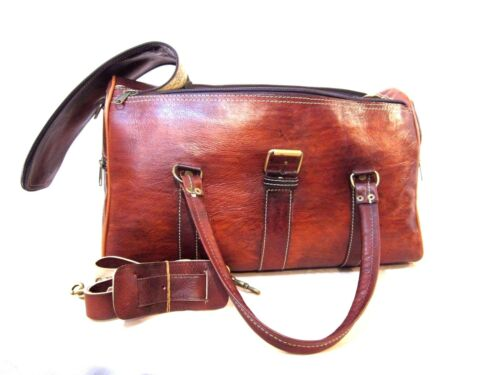 FATHER/'S DAY GIFT MOROCCAN DUFFLE BAG PREMIUM LEATHER TRAVEL BUG FOR MEN WOMEN