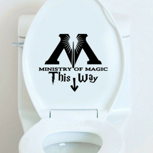 ministry of magic way inspired toilet sticker funny toilet restroom decal SA FD