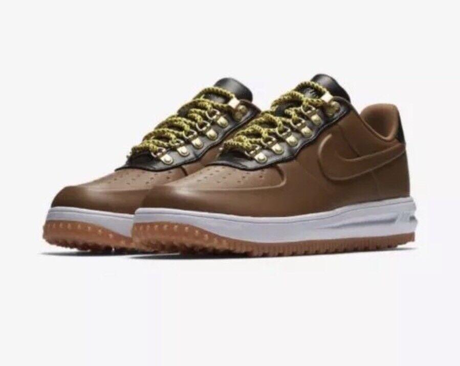 Uomo Nike LF1 LUNAR FORCE 1 DUCK BOOT LOW Brown Nero AA1125 200 -Sz 13