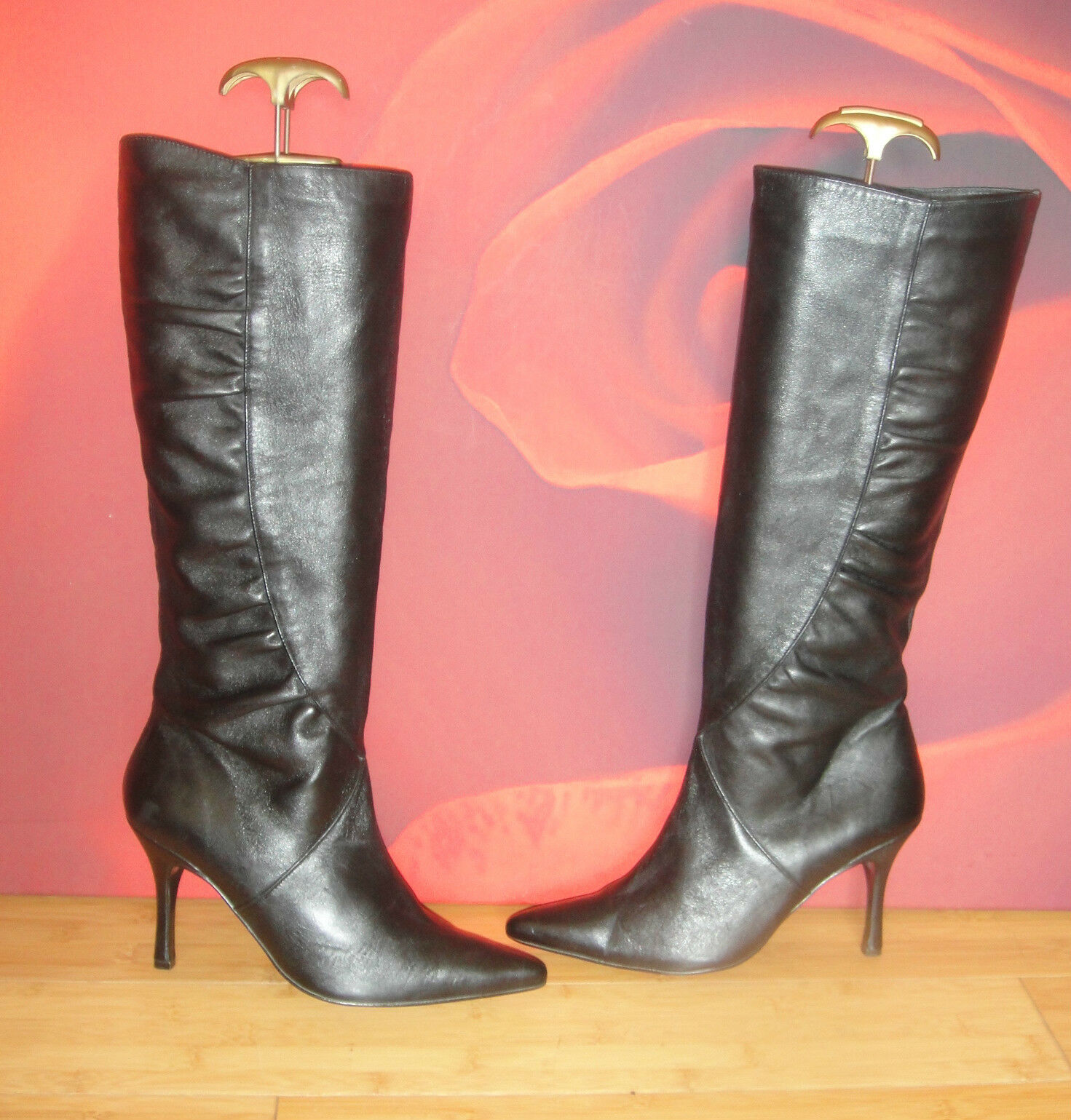 Superb   MISS SELFRIDGE  black leather  boots UK 5 *34*