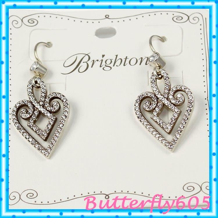 Brighton Tamal Heart Drop French Wire Earrings NWT  78