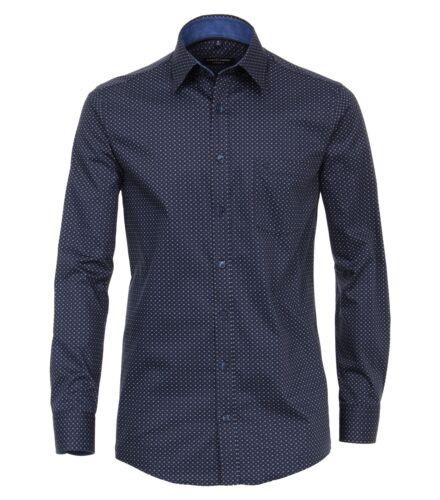 Casa Moda-Comfort fit-gepeachtes Uomo camicia manica lunga puntini 483090900