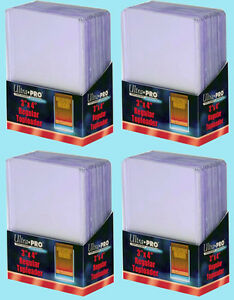 100-Ultra-Pro-3x4-REGULAR-TOPLOADERS-NEW-Standard-Size-Trading-Card-Sleeve-Rigid