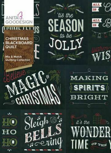 Christmas Blackboard Quilt Anita Goodesign Embroidery Design Machine CD