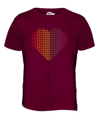 Motif arc-en-amour cœur T-Shirt Homme Tee Top giftgay lesbienne